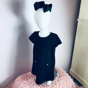 Baby Gap 3T Black SS Dress + Bow